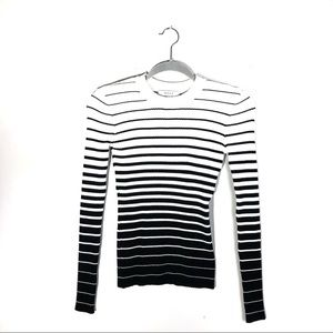 Milly Striped Long Sleeve Ombré Top
